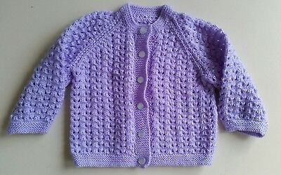 New handknitted lacey cardigan jacket lots2list
