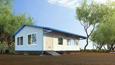 Insulated EPS Panel Granny Flat 2 or 3 Bedroom Building Material Kit