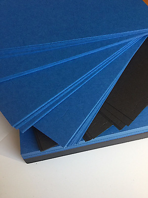 Royal Blue Textured Leathercraft Cardstock 270GSM (Pack of 20) - 18.2cm x 11.8cm