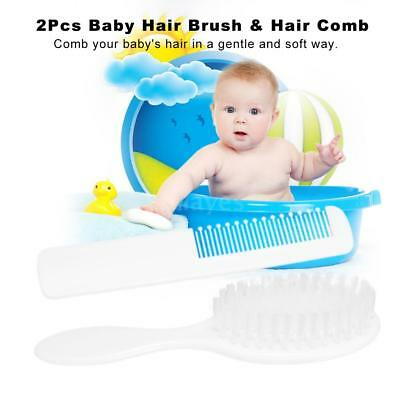 Baby Hair Brush And Comb Set For Newborns Infant Grooming Hair Care Comb K7A9