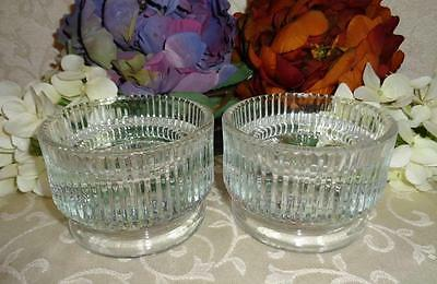 """LENOX CRYSTAL CANDLE HOLDERS """"2 Vintage Heavy Crystal Candle Holders"""""""