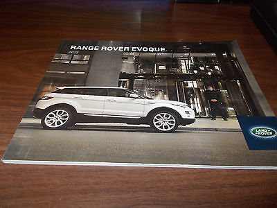 2013 Range Rover Evogue Deluxe 66-page Sales Catalog