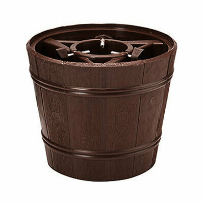 Barrel Style Christmas Tree Stand Brown Water Holding for Trees up to 1.8m (6ft)