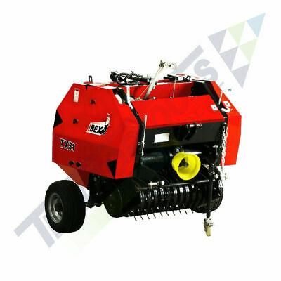 Ibex TX31 Mini Round Hay/Pine Straw Baler with twine wrap for compact tractors
