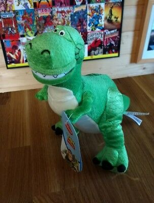 New Official Disney Store Toy Story Rex Soft Plush Toy 22cm