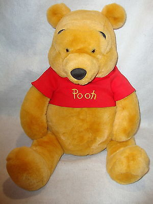 "Disney Store Stuffed Plush WINNIE THE POOH Large Jumbo 28"" Superior Condition !"