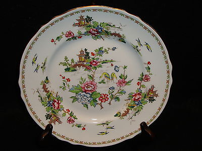 Crown Staffordshire PAGODA SALAD / DESSERT PLATE Fine Bone China Made In England