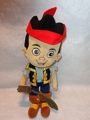 "Disney Store CAPTAIN JAKE Plush From Jake And The Neverland Pirates 12"" Tall EUC"