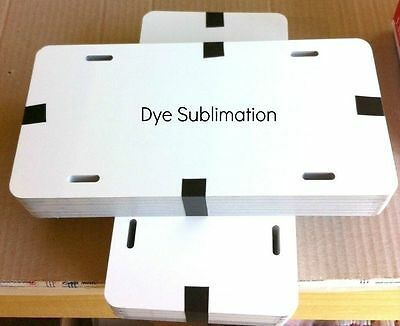 "20pcs. 6"" x 12"" Dye White Sublimation Aluminum License Plate / Car Tag Blanks"