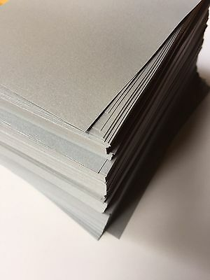 Silver Sheen Metallic Paper 120GSM (Pack of 50) Bulk Lot - 21cm x 10.6cm