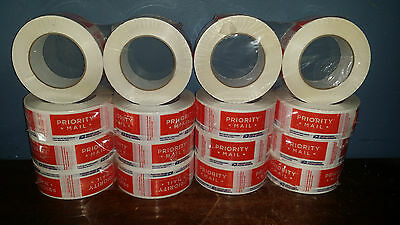16 Rolls Brand New Priority Mail Sealing Packing Tape Label 106A Free Shipping