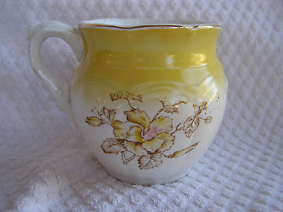 Vintage Creamer Warwick Pottery Yellow With Flowers Pretty!