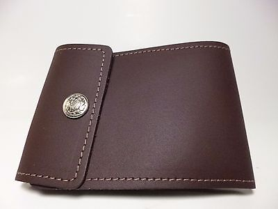 North Star Burgundy End Stub Leather Checkbook Cover-Fact.Second-Made In USA#134