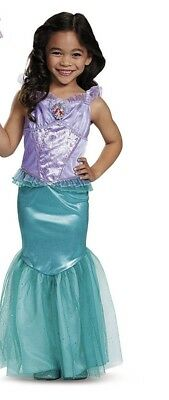 Disguise Deluxe Little Mermaid Ariel Toddler Costume - DRESS ONLY - Sz XS 3T-4T