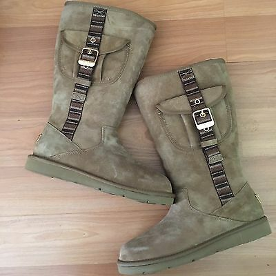 Women's UGG Retro Cargo Brown Suede Boots, Size 8