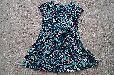 VGUC Gap Kids XL 12 Navy Floral Short Sleeve Dress cotton BTS