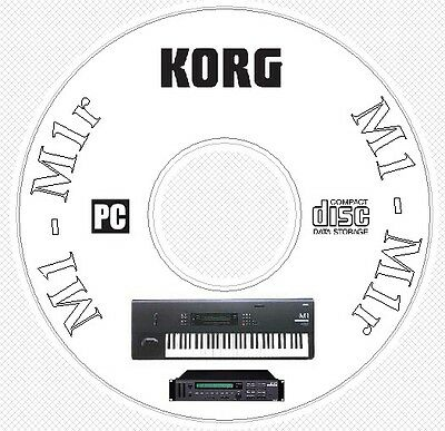 Korg M1 M1R Synth Sound Patch Library, Manual MIDI Software & Editors CD - M 1 R