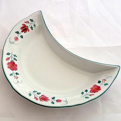 Herend Village Pottery Primrose Crescent Side Salad Plate Hungary Hand Painted