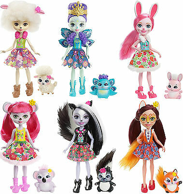 "Mattel Enchantimals 6"" Animal Doll - Felicity Bree Karina Lorna Sage or Patter"