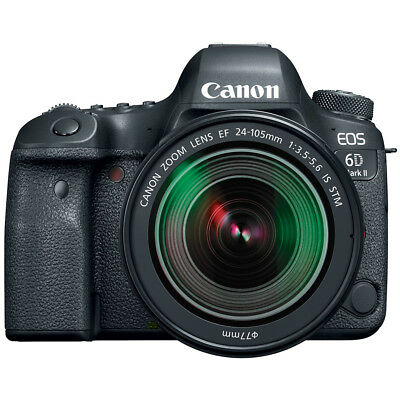 Canon EOS 6D Mark II 26.2MP Digital SLR Camera with EF 24-105mm IS STM Lens
