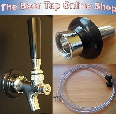 Beer Tap Faucet & Shank+Beer Line & Ball Lock Disconnect Corny Keg Kegerator Kit