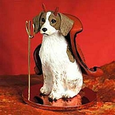 Brittany Spaniel Brown Dog Devil Holiday Ornament Tiny Ones Statue Figurine NEW