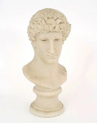 Italian Neo-Classic Style (20th Cent.) White Marble / Stone Life Size Bust