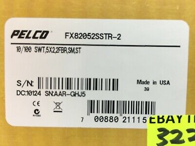 FX82052SSTR-2 Single mode Ethernet Switch ST Connector Media Convert Pelco Fiber