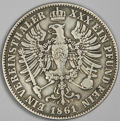 1861-A German States Prussia 1 Thaler Silver! - Classic! Inv#570