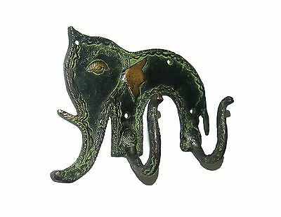 Awesome Brass made AN INDIAN ELEPHANT Designed coat hook from India