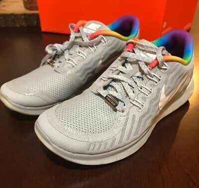65df8564f1ca WOMENS NIKE FREE 5.0 Be True Rainbow LGBT BT SZ 7.5 ( 745383-001 ...