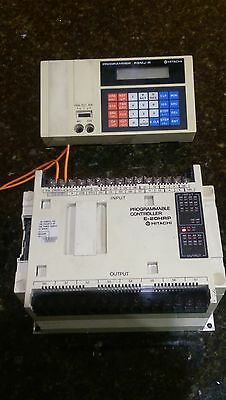 Used 1 Pcs Hitachi plc E-20HRP Programmable controller with PGMJ-R programmer