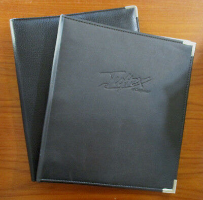"Qty 2 Black Faux Leather Planner 3 Ring Binder 1"" & 1/2"" Rings"