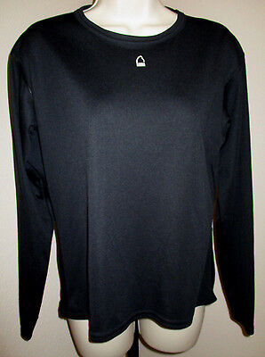 Sierra Designs Athletic Shirt Undershirt Black Long Sleeve Stretch Size S EUC