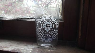 Pre Pro Pabst Brewing Eteched Beer Glass