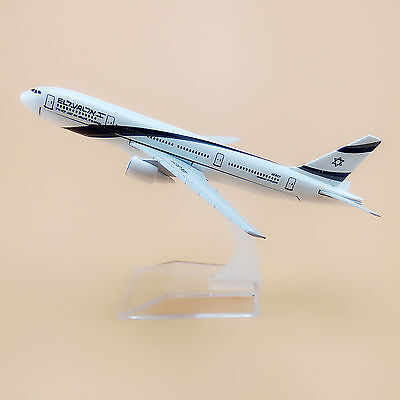 16cm Airplane Model Plane Air Israel Airlines Boeing 777 B777 Aircraft Model