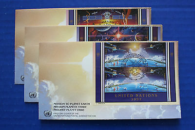 United Nations - 1992 Mission to Planet Earth IB4 FDC set