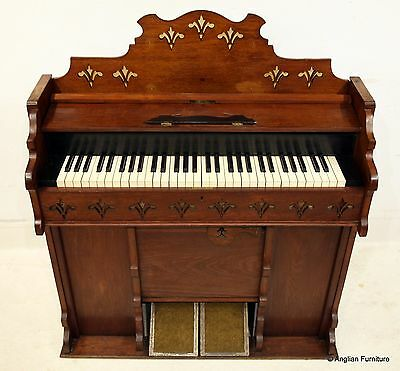Antique American Harmonium Organ in Walnut Case FREE Nationwide Delivery