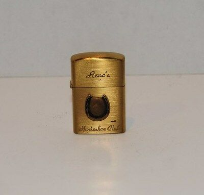 "Vintage ""Reno's Horseshoe Club"" lighter"