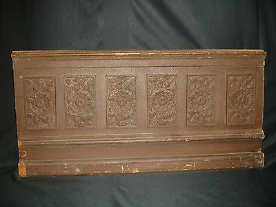 VINTAGE Hand Carved Oak Wood Panel High Relief - Sunflowers