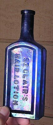 Western Medium Cobalt Blue St. Clair's Hair Lotion With Benicia Effect Stain