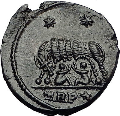 CONSTANTINE I the GREAT 330AD Romulus Remus WOLF Rome Ancient Roman Coin i63283