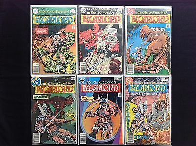WARLORD Lot of 6 DC Comic Books - #3 4 12 22 26 27!