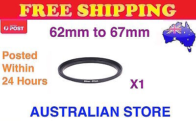 Step Up Ring 62-67mm Filter Lens Adapter 62mm-67mm - FREE FAST POST