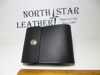 North Star Black End Stub Leather Checkbook Cover-Made In USA-First Quality-134