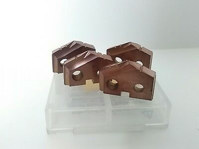 New AME CO. 4pc. Carbide spade drill Inserts. 51/64.  # 451H-796
