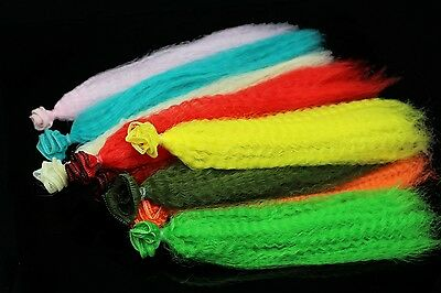 11 Colors Crimped Kinky Synthetic Fiber Clouser Fibre Minnow Fly Tying Materials