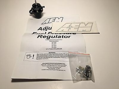 AEM FUEL PRESSURE REGULATOR FPR 25-300BK - Civic Integra Del Sol B16A B18C D16