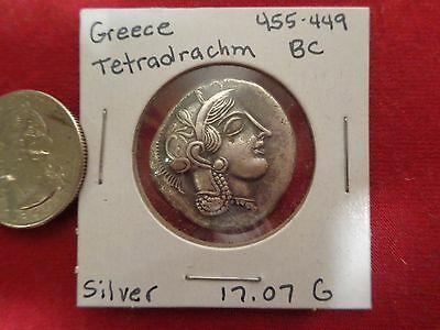 """GREECE """"Owl of Athens"""" -SILVER Remake Of Ancient Greek  Tetradrachm  Coin"""