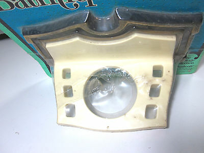 Vintage New Retro Brass Bathroom Toothbrush Cup Glass Holder Wall Mount USA Mid